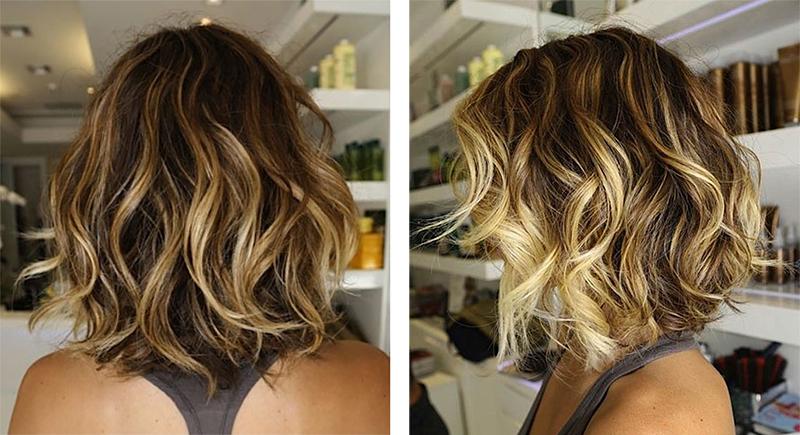 Окрашивание балаяж в домашних условиях на короткие волосы