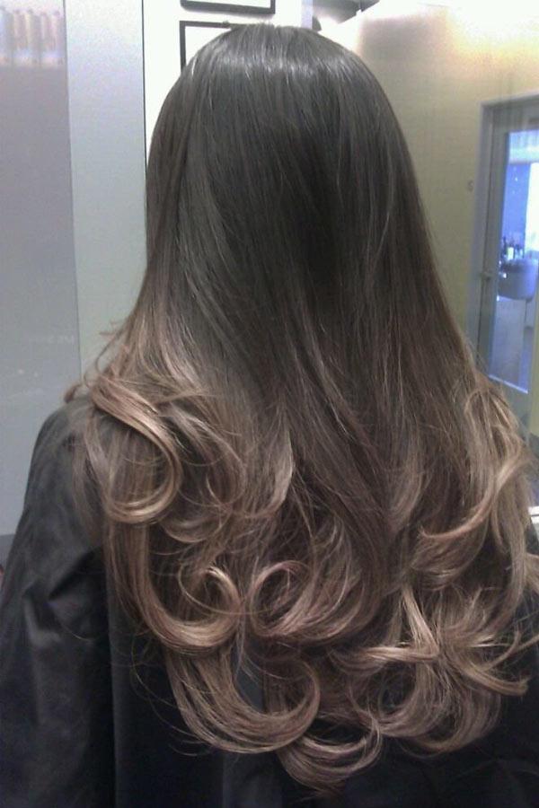 Темные цвета естественно на волосах