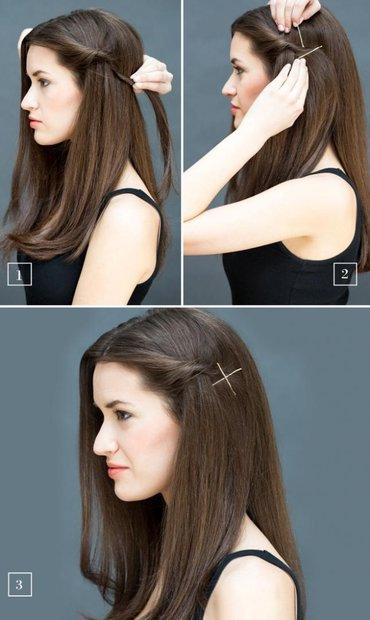Как из длинных прямых волос сделать прическу