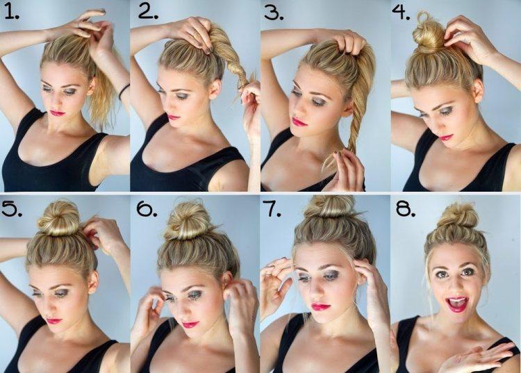 Как сделать красивую шишку из хвоста