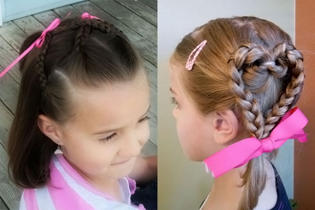Детские причёски на короткие волосы в садик