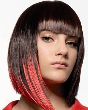 Покраска волос два цвета