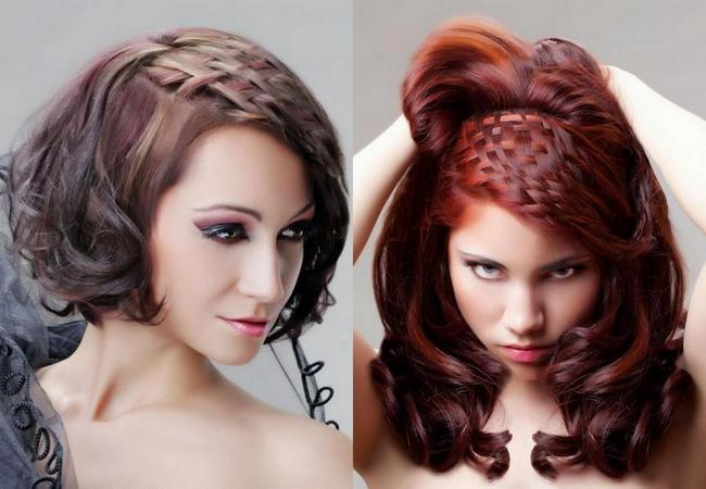 Красивые и интересные прически на средние волосы