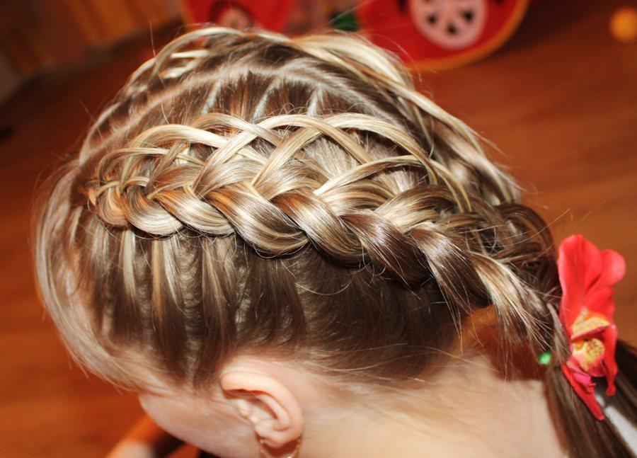 Прически и плетение косичек для девочек фото