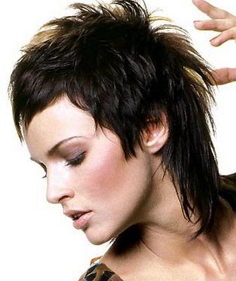 стрижка женская гаврош на средние волосы фото