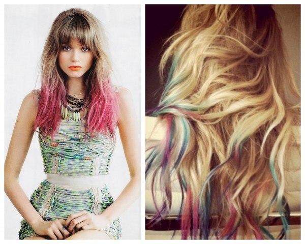 В какой цвет покрасить кончики волос темно русых
