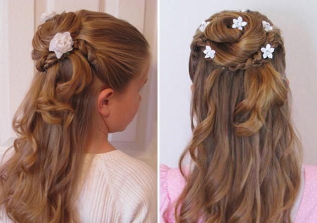 Прически на выпускной для длинных волос для девочки 4 класса