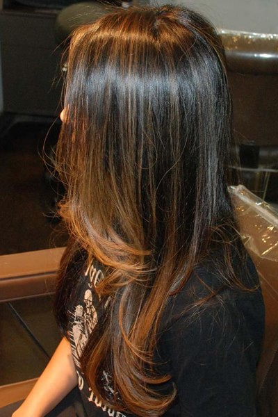 Мелирование на крашеные черные волосы отзывы