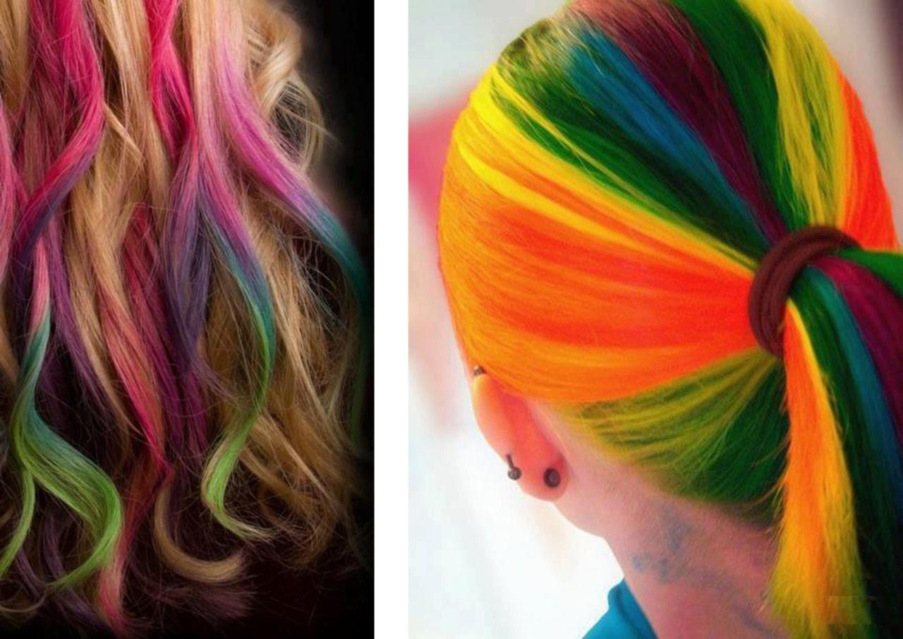 Яркие краски для волос 7
