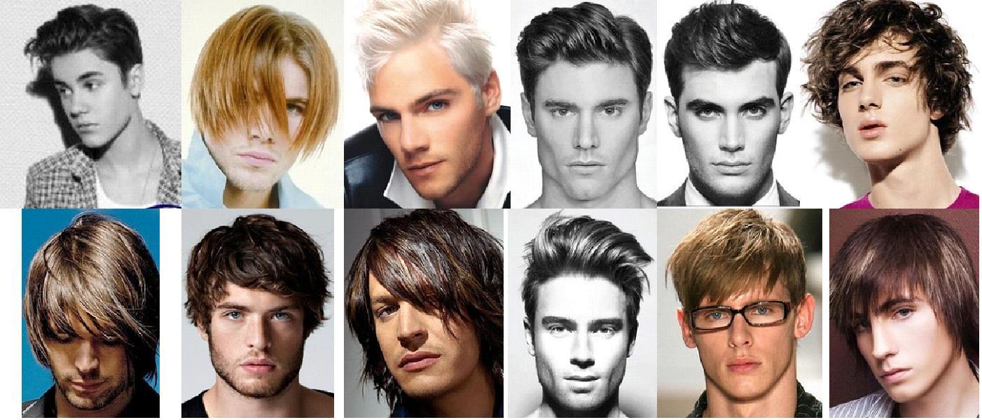 Красивая мужская прическа на средние волосы