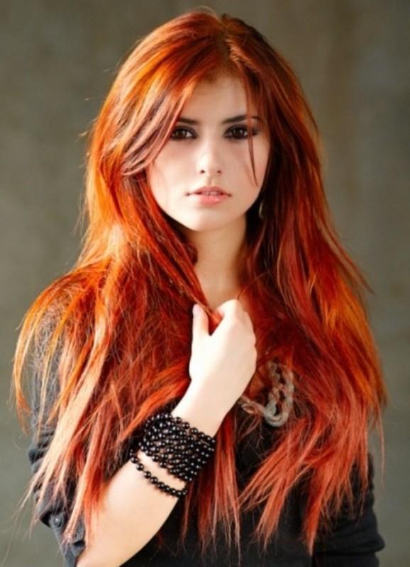 Концы волос рыжие