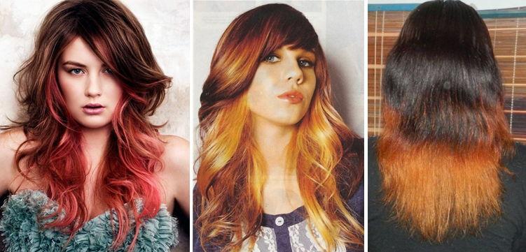 Черный с рыжим цвет волос