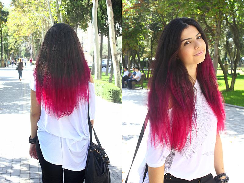 Как тоником красить кончики волос