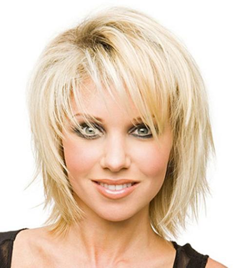 Причёска на жидкие волосы средней длины фото