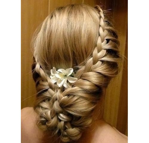 прически для свадьбы фото плетение волос