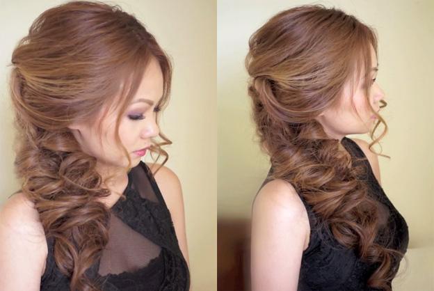 Укладка волос на длинные волосы своими руками