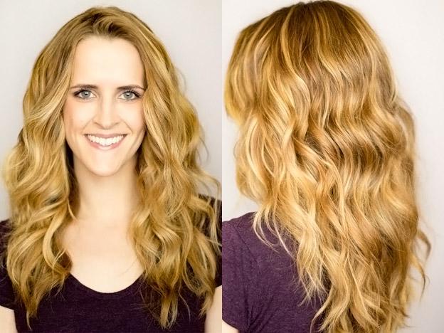 Пляжные волны прическа на средние волосы