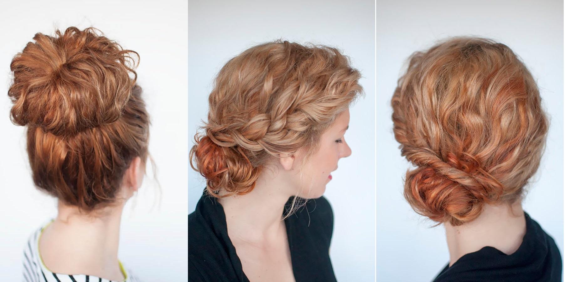 прически на волнистые волосы средней длины фото своими руками