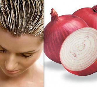 Минералы и витамины в луковой маске для волос