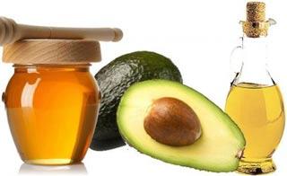 Мед, авокадо и масло