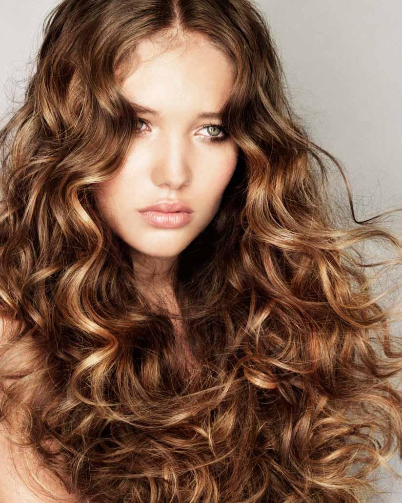 Завивка волос длинных