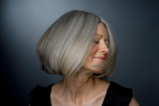 Покраска седых волос фото