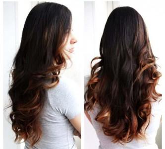 Секреты техники окрашивания балаяж на темные волосы
