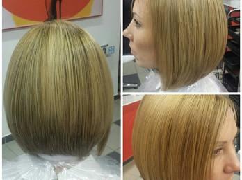 Популярность мраморного окрашивания волос