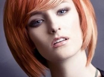 Особенности мелирования рыжих волос