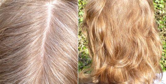 До и после ромашки