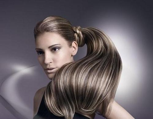 Как делают мелирование на русые волосы 85