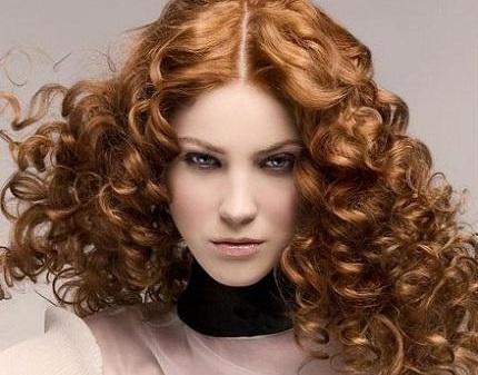 Химия на волосы фото крупные локоны