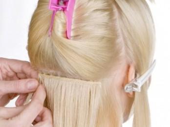 Процедура наращивания волос на трессах