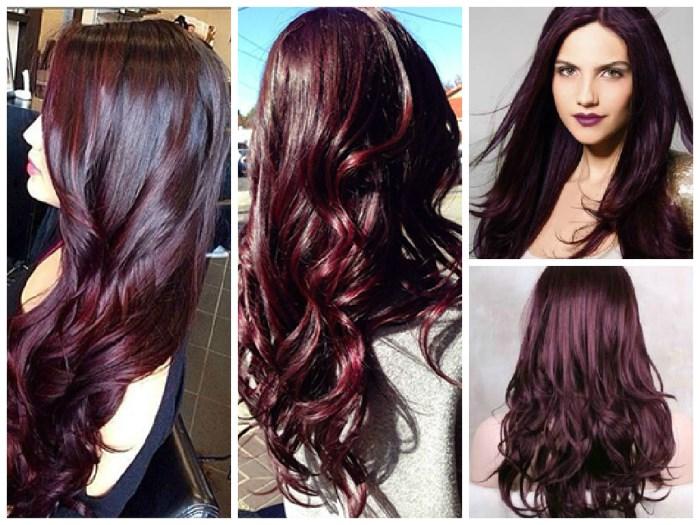 Чёрно-красный цвет волос