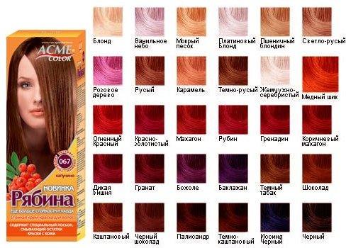Как соединять цвета красок для волос
