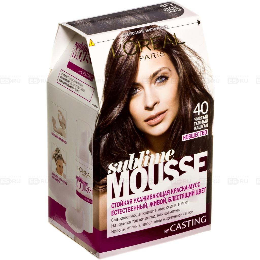 Крем мусс для волос краска