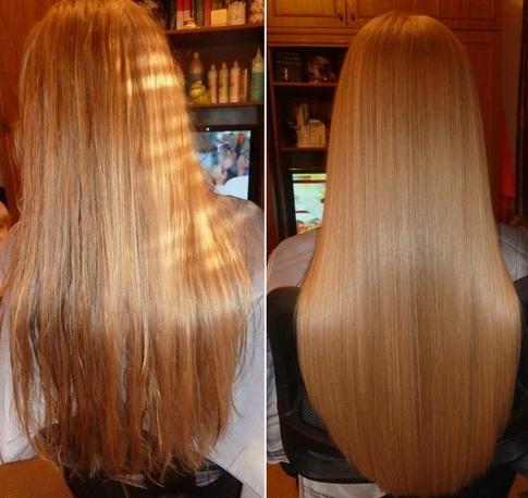 Ламинирование выпрямляет волосы