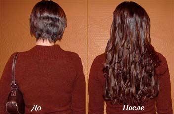 Нарощенные волосы фото до и после фото