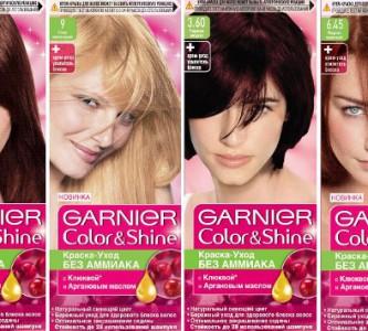 Разнообразие палитры красок для волос Гарньер