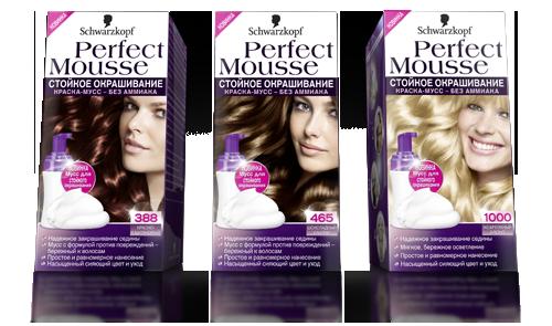 Краска мусс для волос перфект мусс палитра цветов фото