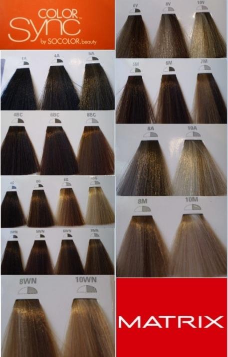 Матрикс палитра цветов краски для волос
