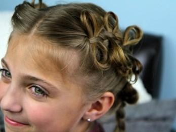 Идеи для детских причесок на средние волосы