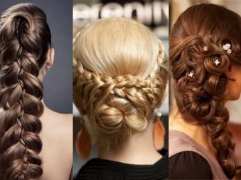 Модные прически из косичек для длинных волос