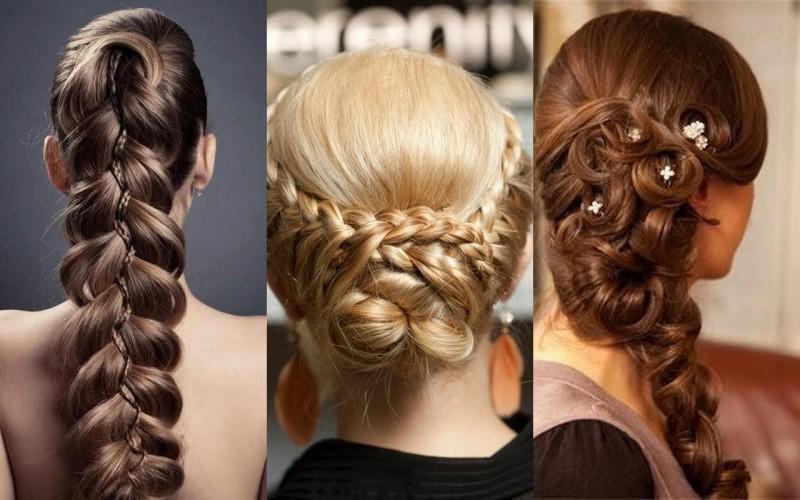 Как сделать косу на средние волосы