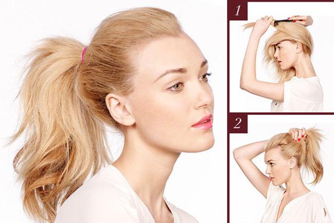 Прически с хвостом на средние волосы - как делать?