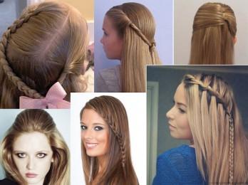 Как сделать красивую и быструю прическу на длинные волосы в школу?