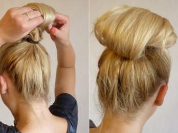 Создаем высокую прическу для средних волос