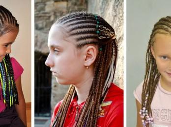 Оформление причесок из косичек для девочек