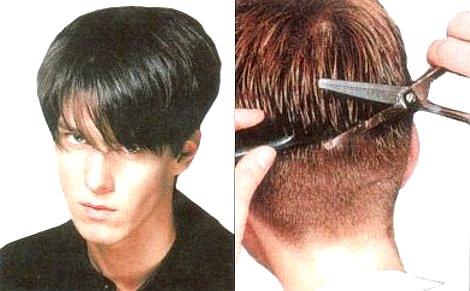 окантовка волос мужская сзади фото
