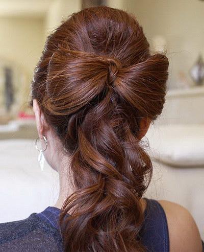 Бантик из волос